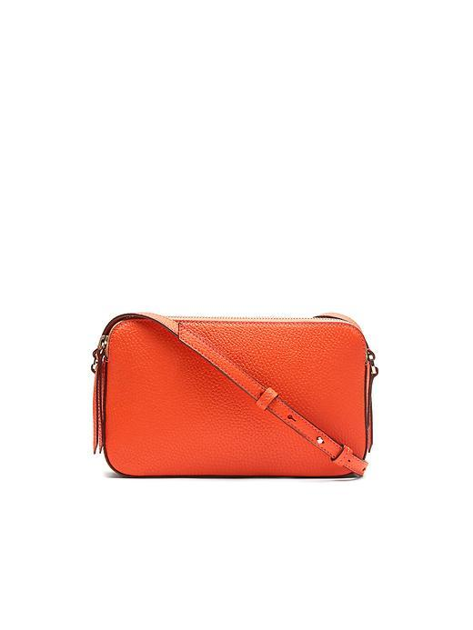 Double Zip Clutch Bag Orange - predominant colour: bright orange; occasions: evening, occasion; type of pattern: standard; style: clutch; length: hand carry; size: small; material: leather; pattern: plain; finish: plain; season: s/s 2016; wardrobe: event