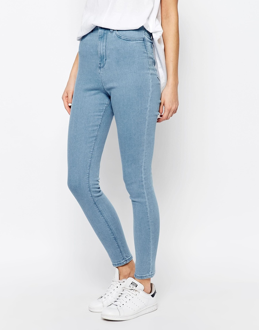 Anika High Rise Skinny Jean Blue - style: skinny leg; length: standard; pattern: plain; waist: high rise; predominant colour: denim; occasions: casual; fibres: cotton - stretch; texture group: denim; pattern type: fabric; season: s/s 2016