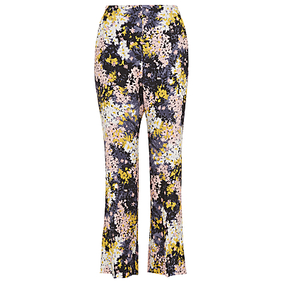Wild Floral Selby Trousers, Multi - waist: high rise; predominant colour: blush; secondary colour: navy; length: ankle length; fibres: silk - 100%; fit: flares; pattern type: fabric; pattern: florals; texture group: other - light to midweight; style: standard; occasions: creative work; pattern size: standard (bottom); multicoloured: multicoloured; season: s/s 2016; wardrobe: highlight