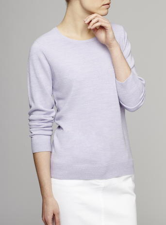 Womens Soft Crew Jumper, Lavender, Lavender - neckline: round neck; pattern: plain; style: standard; predominant colour: lilac; occasions: casual, work, creative work; length: standard; fibres: acrylic - 100%; fit: standard fit; sleeve length: long sleeve; sleeve style: standard; texture group: knits/crochet; pattern type: knitted - fine stitch; season: s/s 2016; wardrobe: highlight