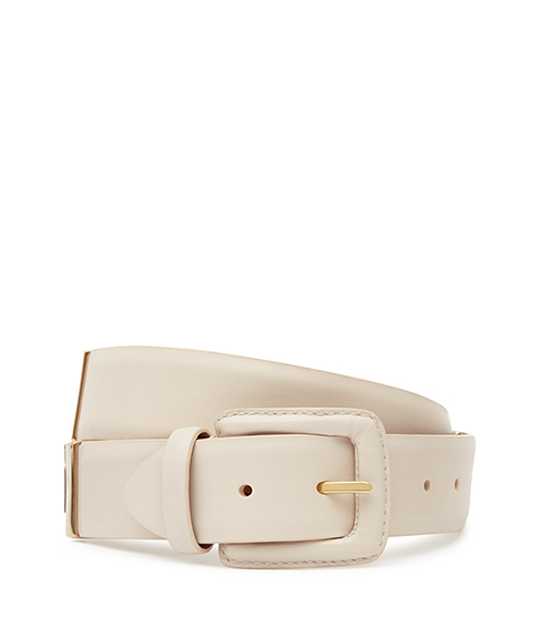 Joni Buckle Detail Belt - predominant colour: nude; occasions: casual, creative work; type of pattern: standard; style: classic; size: standard; worn on: hips; material: leather; pattern: plain; finish: plain; season: s/s 2016