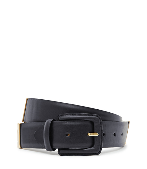 Joni Buckle Detail Belt - predominant colour: navy; occasions: casual, creative work; type of pattern: standard; style: classic; size: standard; worn on: hips; material: leather; pattern: plain; finish: plain; season: s/s 2016