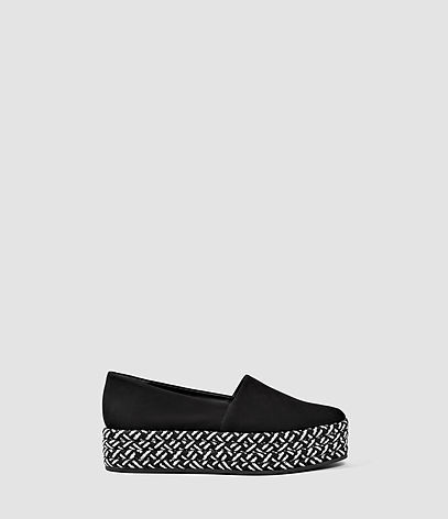 Bora Slip On Shoe - predominant colour: black; occasions: casual, creative work; material: suede; heel height: flat; toe: round toe; finish: plain; pattern: plain; style: espadrilles; season: s/s 2016; wardrobe: highlight
