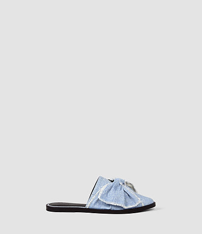 Rumour Slip On Shoe - predominant colour: pale blue; occasions: casual; material: fabric; heel height: flat; heel: standard; style: slides; finish: plain; pattern: plain; toe: caged; season: s/s 2016; wardrobe: highlight