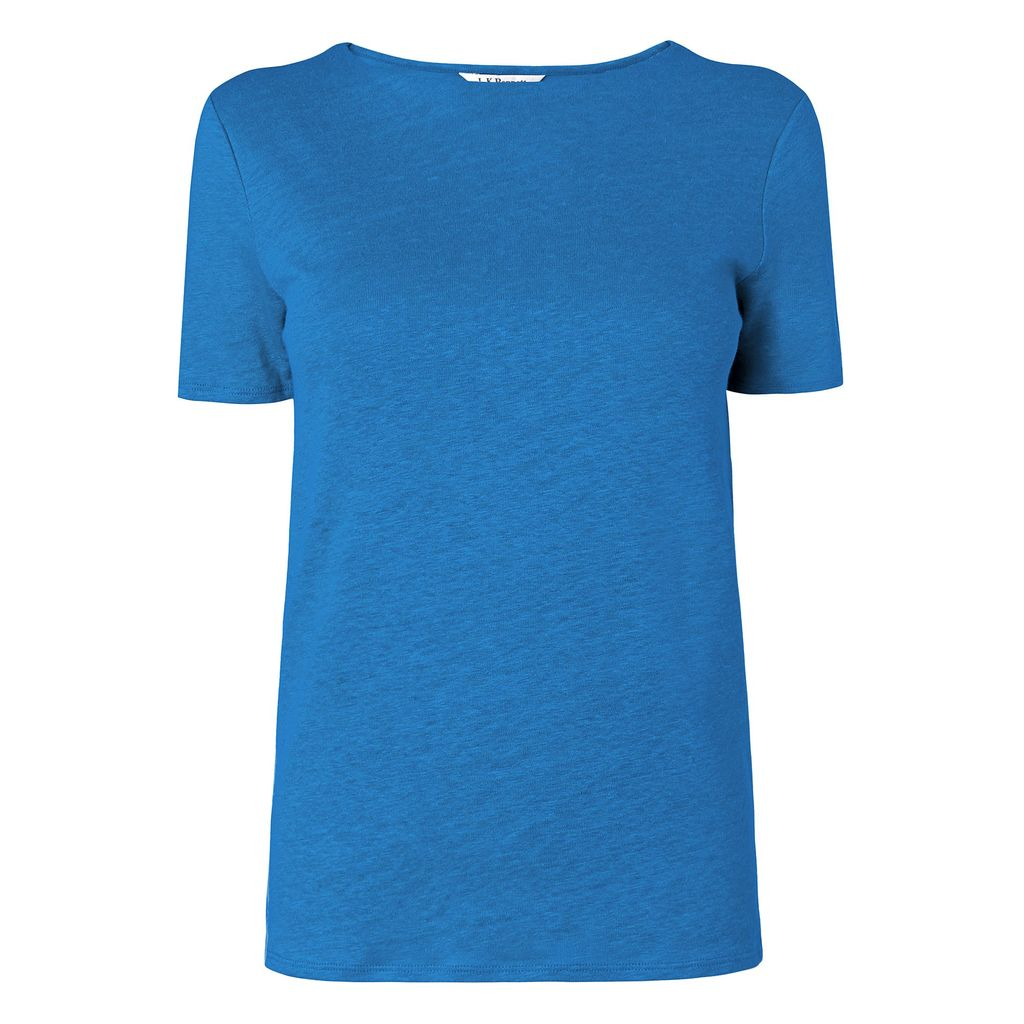 Hula Tshirt, Dark Blue - pattern: plain; style: t-shirt; predominant colour: royal blue; occasions: casual; length: standard; fibres: linen - 100%; fit: body skimming; neckline: crew; sleeve length: short sleeve; sleeve style: standard; pattern type: fabric; texture group: jersey - stretchy/drapey; season: s/s 2016; wardrobe: highlight
