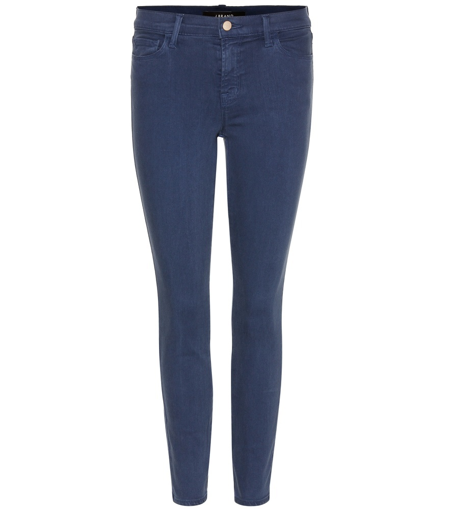 Low Rise Super Skinny Jeans - style: skinny leg; length: standard; pattern: plain; pocket detail: traditional 5 pocket; waist: mid/regular rise; predominant colour: navy; occasions: casual; fibres: cotton - stretch; texture group: denim; pattern type: fabric; season: s/s 2016
