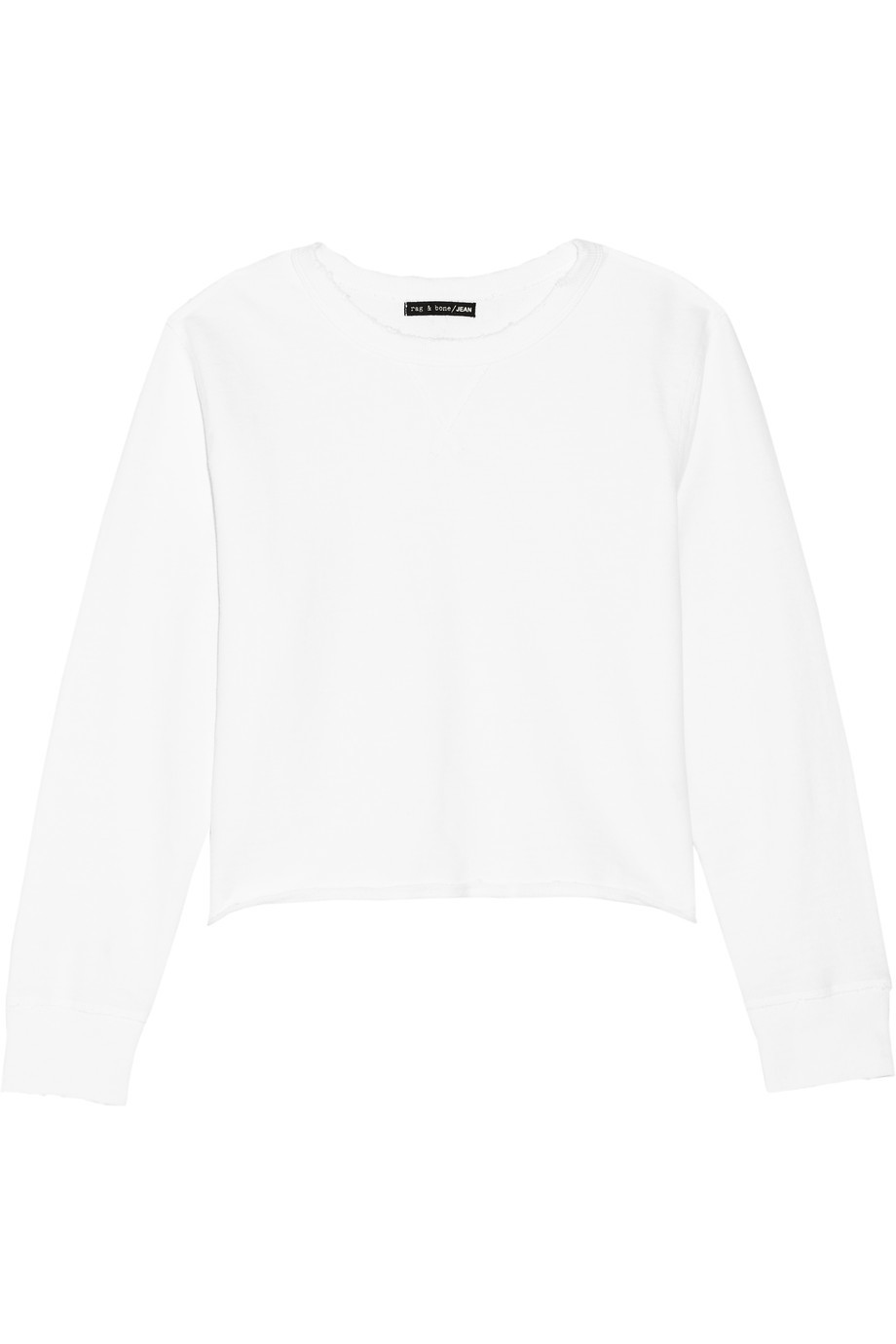 Pier Cotton Sweatshirt White - pattern: plain; style: sweat top; predominant colour: white; occasions: casual; length: standard; fibres: cotton - 100%; fit: body skimming; neckline: crew; sleeve length: long sleeve; sleeve style: standard; texture group: cotton feel fabrics; pattern type: fabric; season: s/s 2016; wardrobe: basic