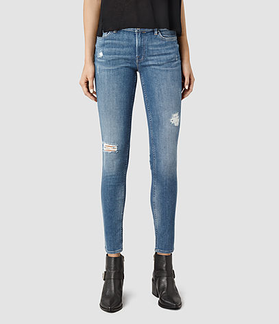 Mast Destroys Jeans - style: skinny leg; pattern: plain; waist: low rise; pocket detail: traditional 5 pocket; predominant colour: denim; occasions: casual; length: ankle length; fibres: cotton - stretch; texture group: denim; pattern type: fabric; season: s/s 2016; wardrobe: basic