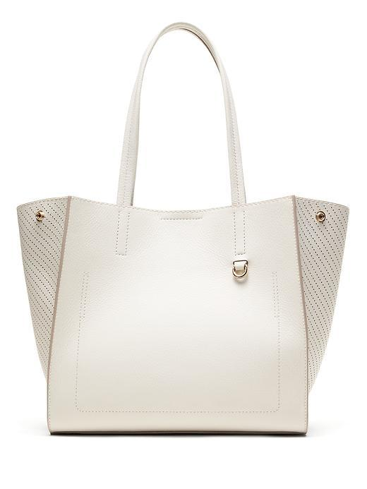 Italian Leather Tote New Stone - predominant colour: light grey; occasions: casual, creative work; type of pattern: standard; style: tote; length: handle; size: standard; material: leather; pattern: plain; finish: plain; season: s/s 2016; wardrobe: investment