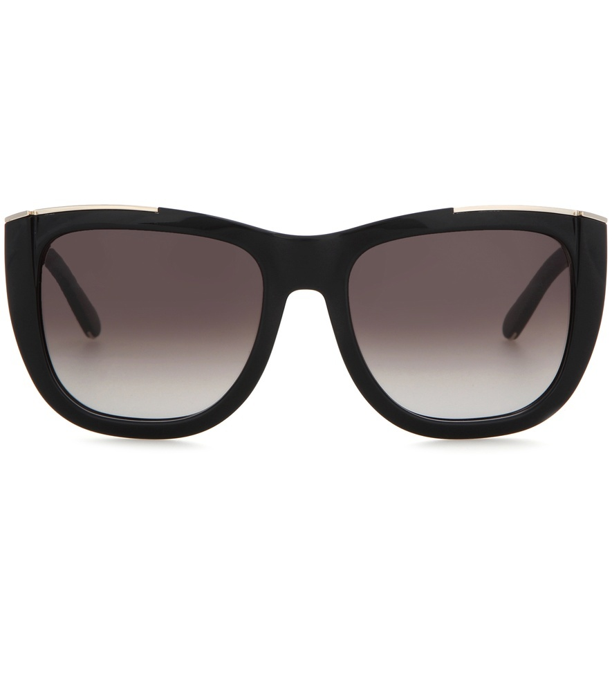 Dallia Sunglasses - predominant colour: black; occasions: casual, holiday; style: d frame; size: large; material: plastic/rubber; pattern: plain; finish: plain; season: s/s 2016