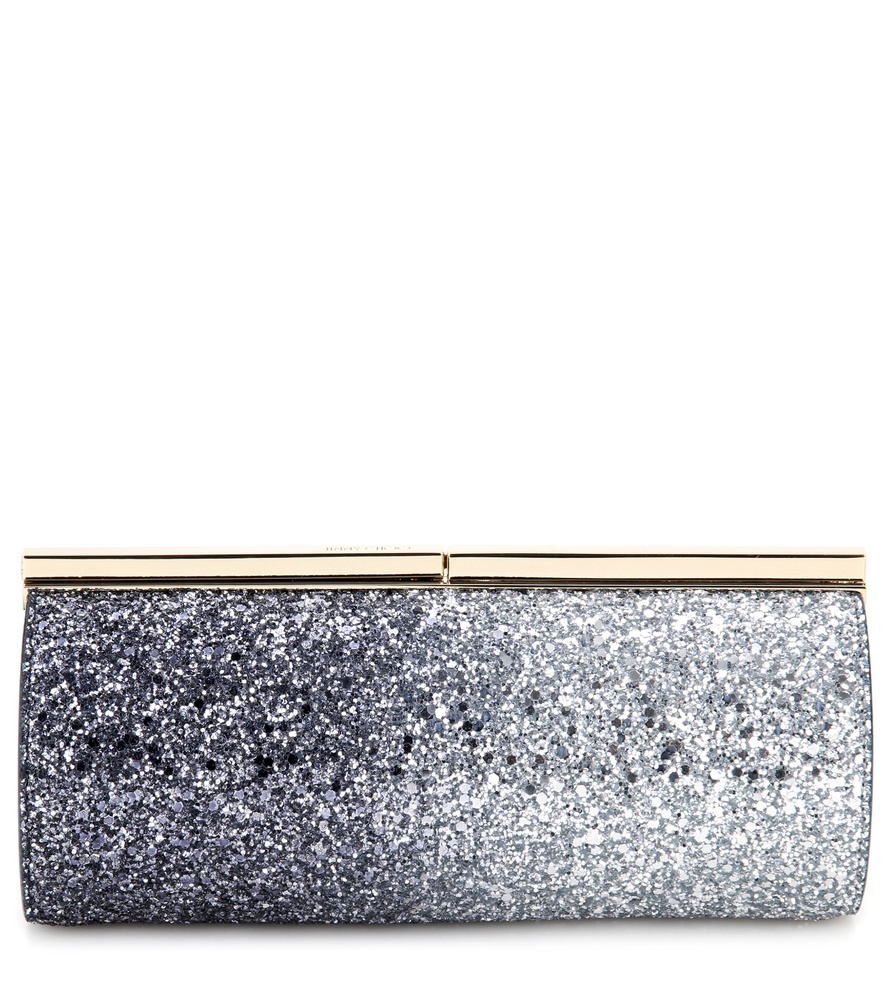 Memento Trinket Embellished Clutch - predominant colour: silver; occasions: evening, occasion; type of pattern: standard; style: clutch; length: hand carry; size: small; material: leather; embellishment: glitter; pattern: plain; finish: metallic; season: s/s 2016; wardrobe: event