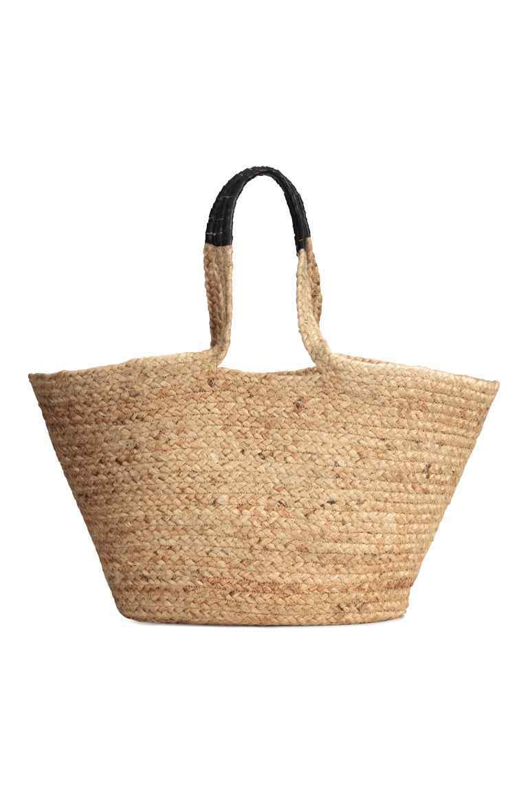 Jute Handbag - predominant colour: stone; type of pattern: standard; style: tote; length: handle; size: oversized; material: macrame/raffia/straw; pattern: plain; occasions: holiday; finish: plain; season: s/s 2016; wardrobe: highlight
