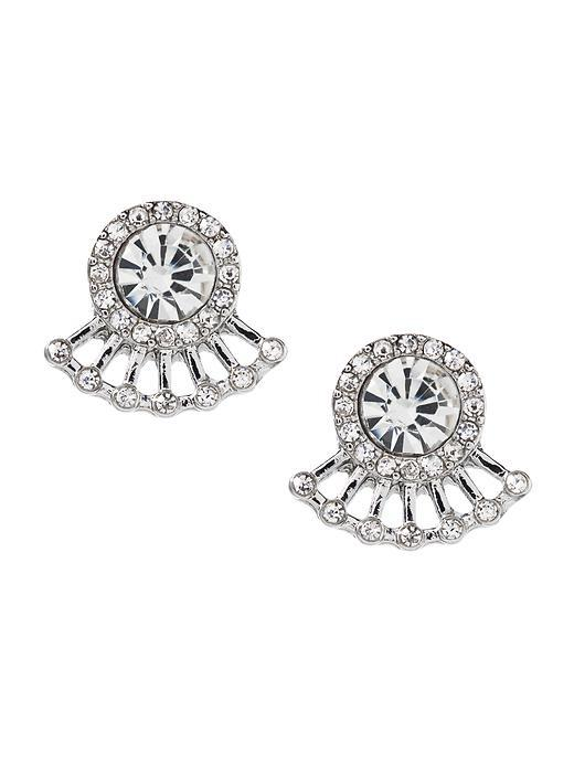 Pave Sparkle Earring Clear Crystal - predominant colour: silver; occasions: evening, occasion; style: stud; length: short; size: small/fine; material: chain/metal; fastening: pierced; finish: plain; embellishment: crystals/glass; season: s/s 2016; wardrobe: event