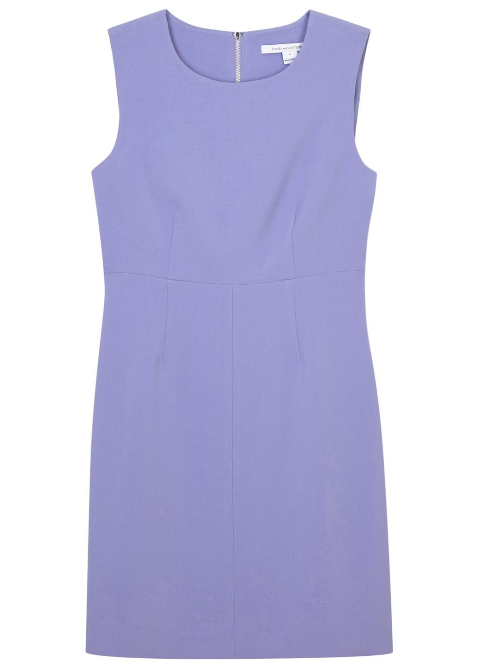 Carrie Lilac Crepe Shift Dress - style: shift; neckline: round neck; pattern: plain; sleeve style: sleeveless; predominant colour: lilac; length: just above the knee; fit: body skimming; fibres: polyester/polyamide - mix; sleeve length: sleeveless; texture group: crepes; pattern type: fabric; occasions: creative work; season: s/s 2016; wardrobe: highlight