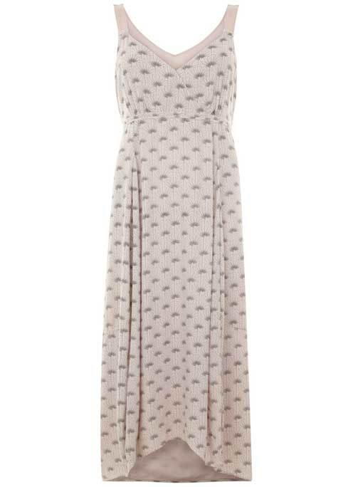 Luisa Print Tie Back Maxi Dress - neckline: v-neck; sleeve style: sleeveless; style: maxi dress; length: ankle length; predominant colour: stone; occasions: casual; fit: body skimming; fibres: viscose/rayon - 100%; sleeve length: sleeveless; pattern type: fabric; pattern: patterned/print; texture group: jersey - stretchy/drapey; season: s/s 2016