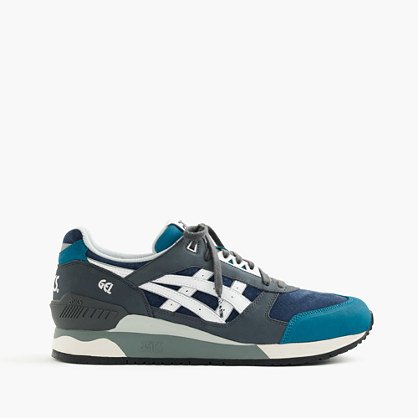 Asics® For Gel Respector™ Sneakers - secondary colour: navy; predominant colour: denim; occasions: casual; material: suede; heel height: flat; toe: round toe; style: trainers; finish: plain; pattern: plain; season: s/s 2016; wardrobe: highlight