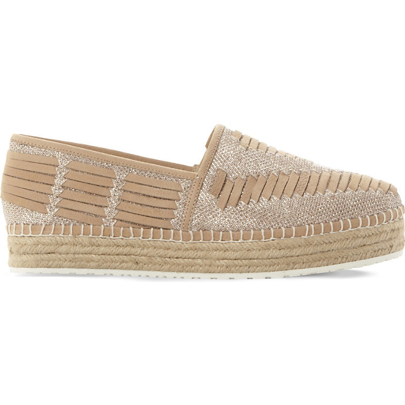 Chancee Leather Flatform Espadrilles, Women's, Eur 41 / 8 Uk Women, Natural Leather - predominant colour: camel; occasions: casual, holiday; material: leather; heel height: flat; toe: round toe; finish: plain; pattern: plain; style: espadrilles; shoe detail: platform; season: s/s 2016; wardrobe: highlight