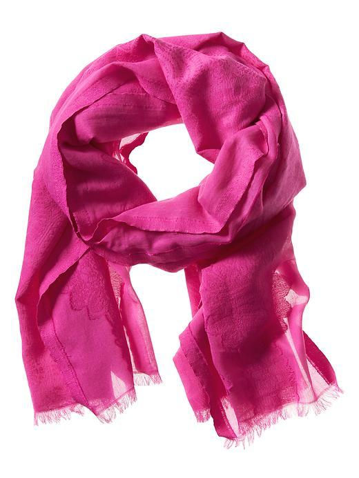 Jacquard Cotton Scarf Royal Fuchsia - predominant colour: hot pink; occasions: casual; type of pattern: standard; style: regular; size: standard; material: fabric; pattern: plain; season: s/s 2016; wardrobe: highlight