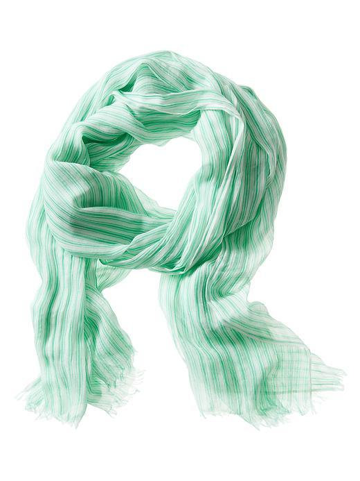 Stripe Scarf Green - predominant colour: emerald green; occasions: casual; type of pattern: heavy; style: regular; size: standard; material: fabric; pattern: striped; season: s/s 2016; wardrobe: highlight