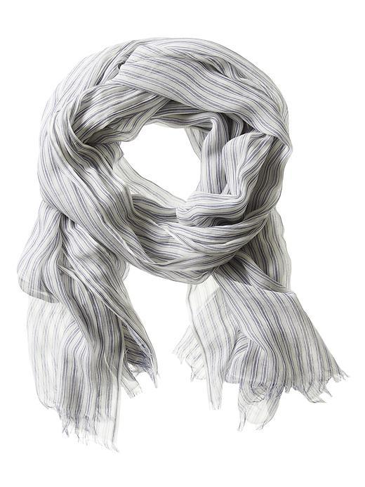 Stripe Scarf Stowaway Blue - predominant colour: light grey; occasions: casual; type of pattern: heavy; style: regular; size: standard; material: fabric; pattern: striped; season: s/s 2016