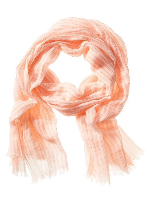 Stripe Scarf Neon Tropics - predominant colour: coral; occasions: casual; type of pattern: light; style: regular; size: standard; material: fabric; pattern: striped; season: s/s 2016