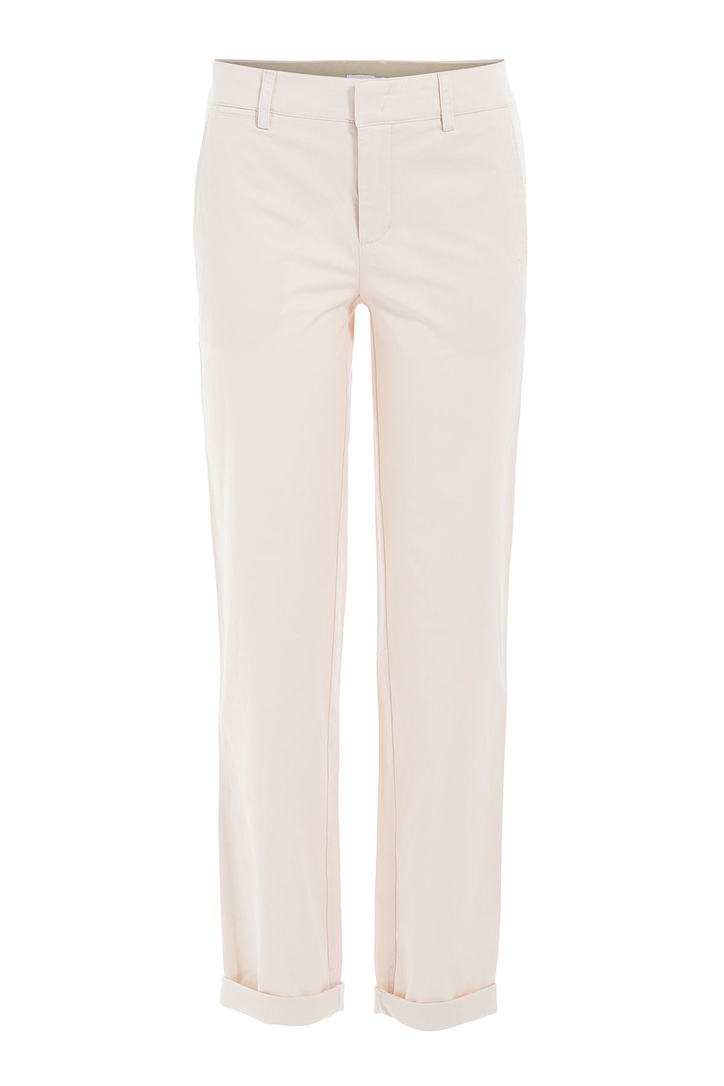 Stretch Cotton Chinos - pattern: plain; waist: mid/regular rise; predominant colour: ivory/cream; occasions: casual, creative work; length: ankle length; fibres: cotton - 100%; texture group: cotton feel fabrics; fit: slim leg; pattern type: fabric; style: standard; season: s/s 2016; wardrobe: basic