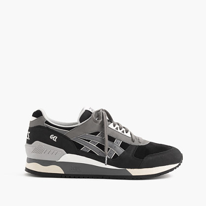 Asics® For Gel Respector™ Sneakers - secondary colour: mid grey; predominant colour: black; occasions: casual; material: fabric; heel height: flat; toe: round toe; style: trainers; finish: plain; pattern: plain; season: s/s 2016; wardrobe: basic