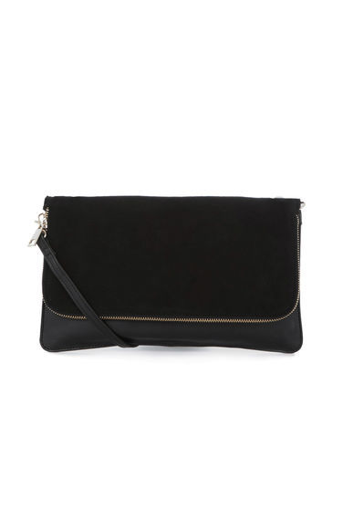 Leather Zip Around Cross Body B - predominant colour: black; occasions: casual, creative work; type of pattern: standard; style: shoulder; length: across body/long; size: standard; material: leather; embellishment: zips; pattern: plain; finish: plain; season: s/s 2016