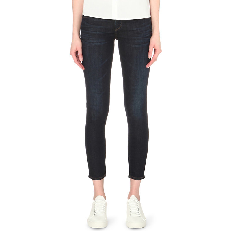 Avedon Ultra Skinny Mid Rise Jeans, Women's, Icon - style: skinny leg; pattern: plain; pocket detail: traditional 5 pocket; waist: mid/regular rise; predominant colour: navy; occasions: casual; length: calf length; fibres: cotton - stretch; texture group: denim; pattern type: fabric; season: s/s 2016; wardrobe: basic