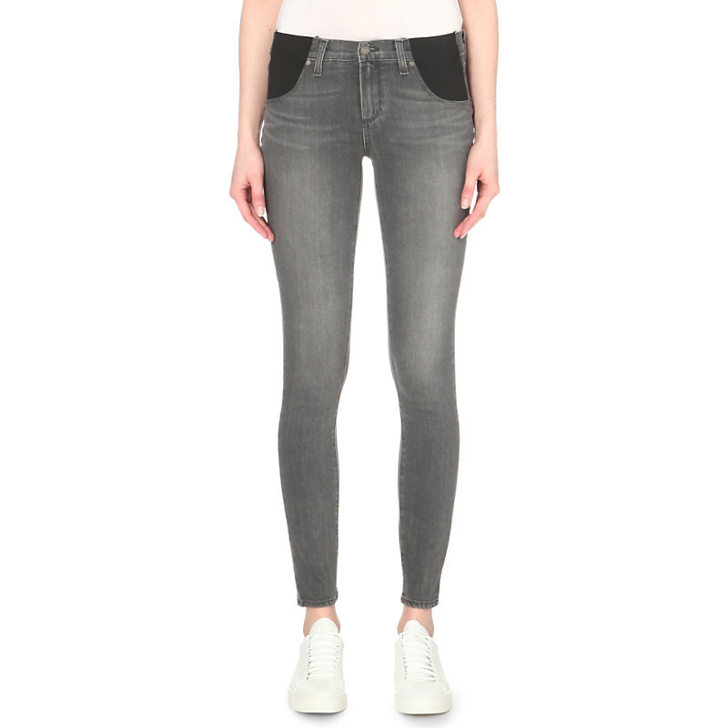 Verdugo Skinny Mid Rise Maternity Jeans, Women's, Silvie - style: skinny leg; length: standard; pattern: plain; pocket detail: traditional 5 pocket; waist: mid/regular rise; predominant colour: mid grey; occasions: casual; fibres: cotton - stretch; texture group: denim; pattern type: fabric; season: s/s 2016; wardrobe: highlight