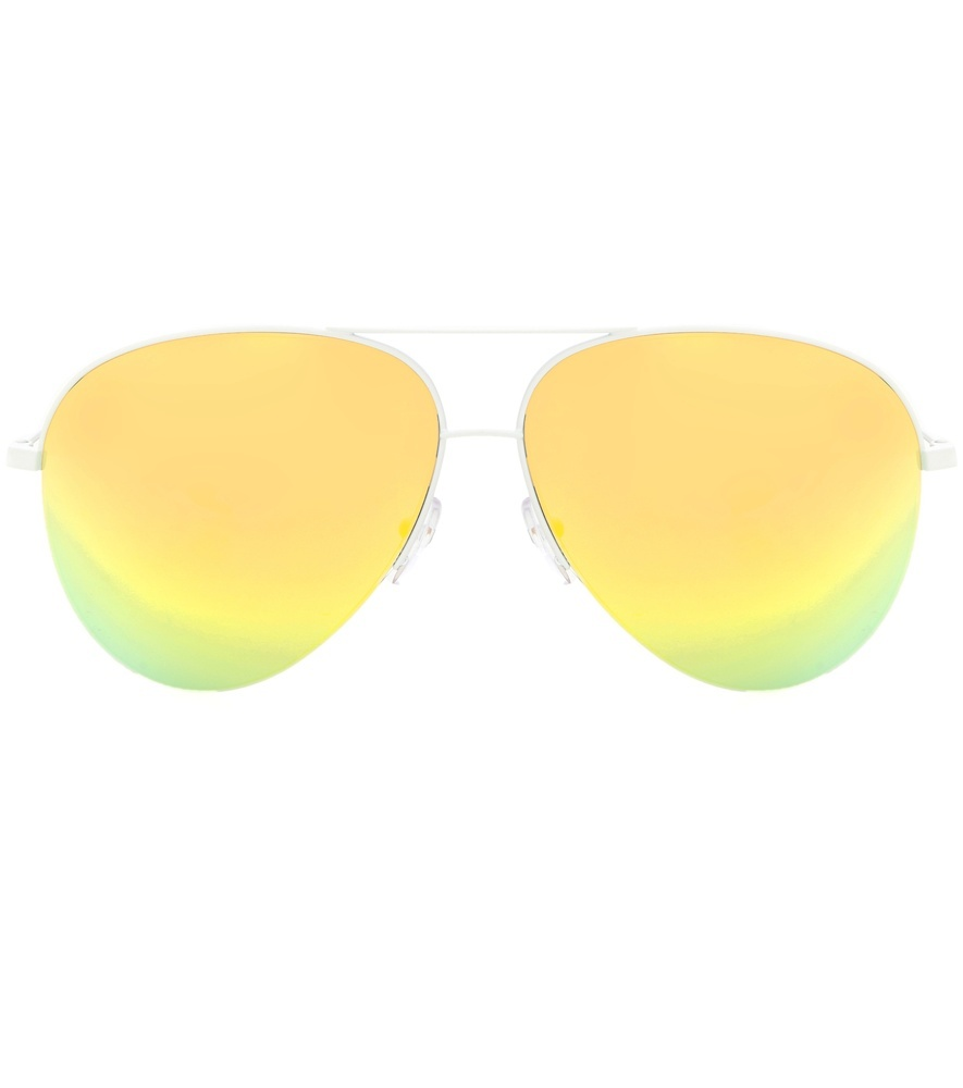 Classic Victoria Mirrored Sunglasses - predominant colour: yellow; style: aviator; size: standard; material: chain/metal; pattern: plain; occasions: holiday; finish: plain; season: s/s 2016; wardrobe: highlight