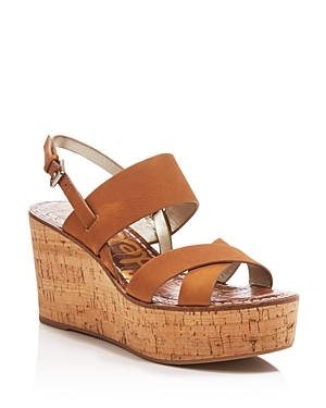 Destiny Cork Wedge Sandals - predominant colour: tan; occasions: casual; material: leather; heel height: high; heel: wedge; toe: open toe/peeptoe; style: strappy; finish: plain; pattern: plain; shoe detail: platform; season: s/s 2016; wardrobe: highlight