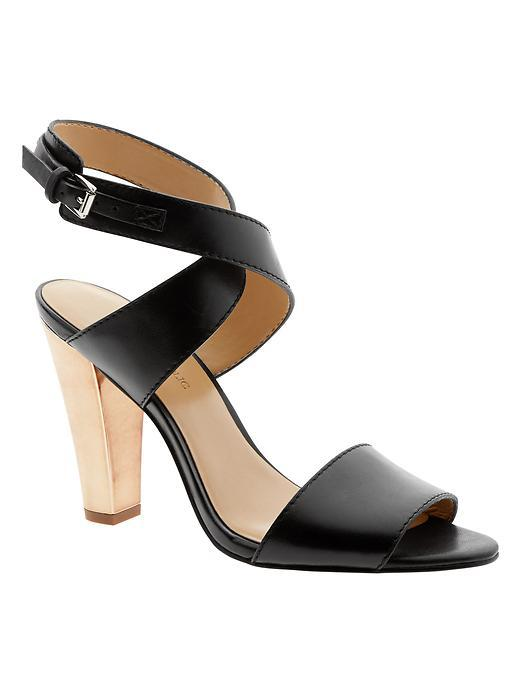 Samanda Heeled Sandal Black - predominant colour: black; occasions: evening; material: leather; heel height: high; ankle detail: ankle strap; heel: standard; toe: open toe/peeptoe; style: standard; finish: plain; pattern: plain; season: s/s 2016; wardrobe: event