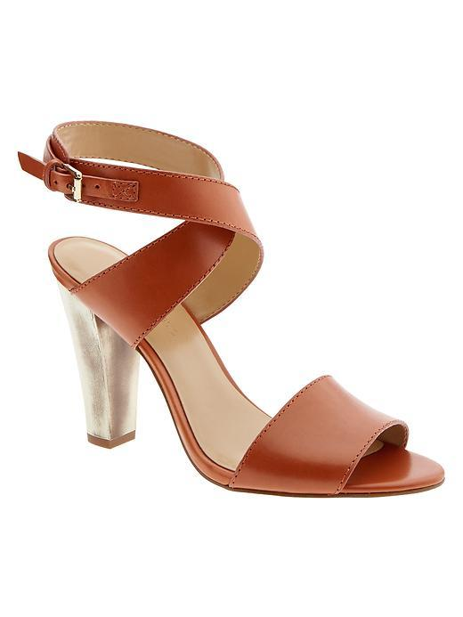 Samanda Heeled Sandal Rum - predominant colour: terracotta; occasions: evening; material: leather; heel height: high; ankle detail: ankle strap; heel: standard; toe: open toe/peeptoe; style: standard; finish: plain; pattern: plain; season: s/s 2016; wardrobe: event