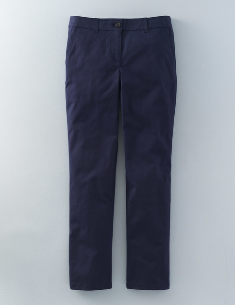 Lightweight Chino Navy Women, Navy - pattern: plain; waist: mid/regular rise; predominant colour: navy; occasions: casual; length: ankle length; style: chino; fibres: cotton - 100%; waist detail: narrow waistband; texture group: cotton feel fabrics; fit: slim leg; pattern type: fabric; pattern size: standard (bottom); season: s/s 2016; wardrobe: basic