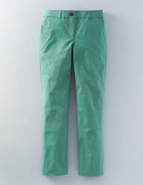 Lightweight Chino Csarite Women, Csarite - pattern: plain; waist: mid/regular rise; predominant colour: emerald green; occasions: casual; length: ankle length; style: chino; fibres: cotton - 100%; waist detail: narrow waistband; texture group: cotton feel fabrics; fit: slim leg; pattern type: fabric; season: s/s 2016