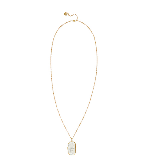 Lyra Long Length Locket - predominant colour: gold; occasions: evening, occasion; style: pendant; length: mid; size: standard; material: chain/metal; finish: metallic; embellishment: jewels/stone; season: s/s 2016; wardrobe: event