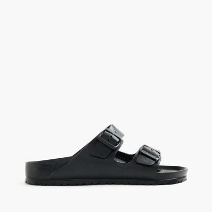 Birkenstock® Arizona Waterproof Eva Sandals - predominant colour: black; occasions: casual, holiday; material: faux leather; heel height: flat; embellishment: buckles; heel: block; toe: open toe/peeptoe; style: slides; finish: plain; pattern: plain; shoe detail: tread; season: s/s 2016; wardrobe: highlight