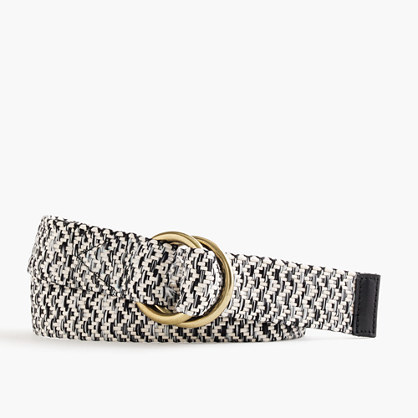 Marled Woven Belt - predominant colour: black; secondary colour: black; occasions: casual, creative work; type of pattern: light; style: plaited/woven; size: standard; worn on: hips; material: fabric; pattern: plain; finish: plain; season: s/s 2016
