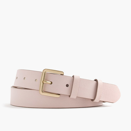 Classic Leather Belt - predominant colour: blush; occasions: casual, creative work; type of pattern: standard; style: classic; size: standard; worn on: hips; material: leather; pattern: plain; finish: plain; season: s/s 2016