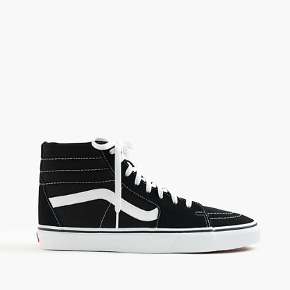 Vans® Sk8 Hi Sneakers In Black - secondary colour: white; predominant colour: black; occasions: casual; material: fabric; heel height: flat; toe: round toe; style: trainers; finish: plain; pattern: colourblock; shoe detail: moulded soul; season: s/s 2016