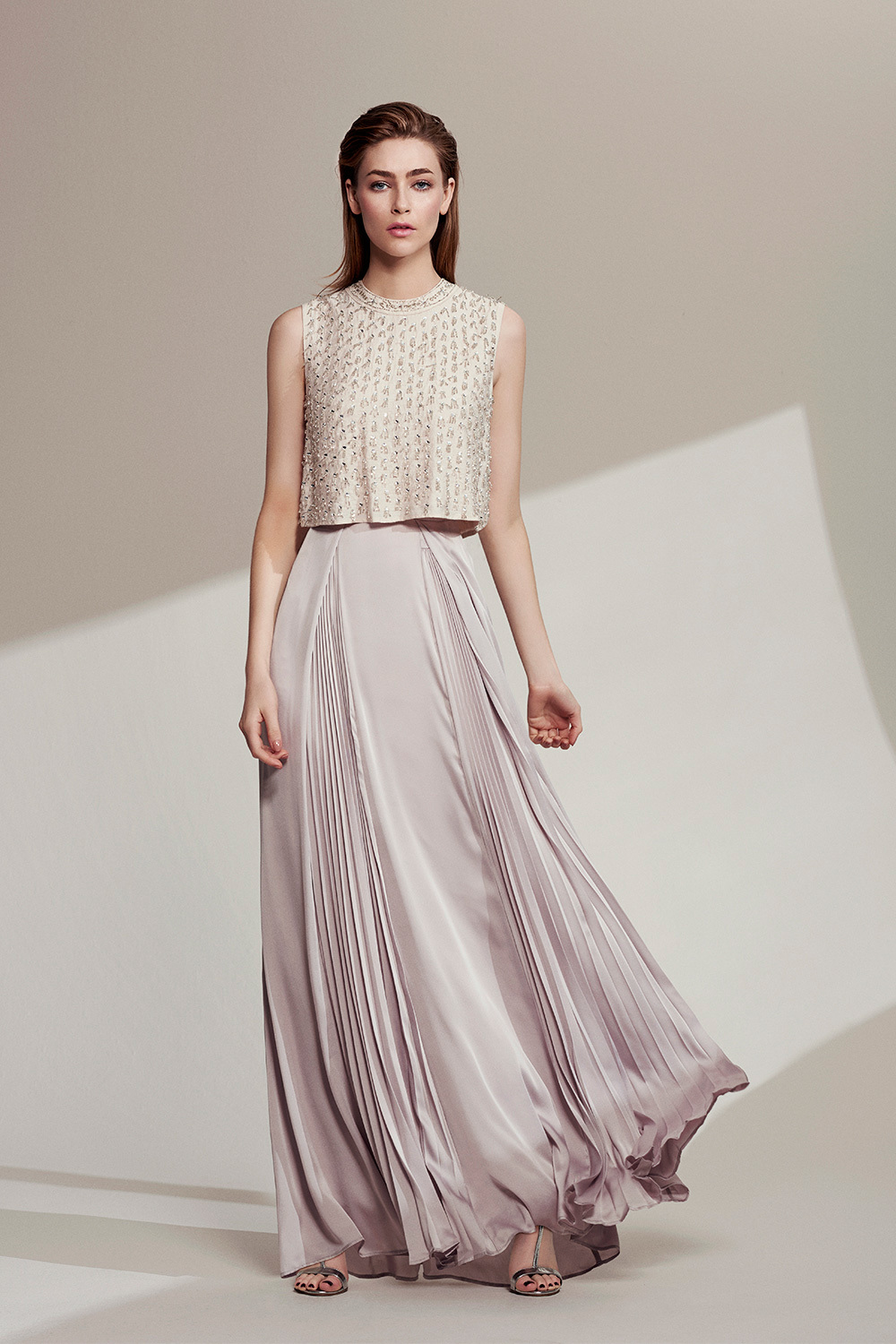 Macy Skirt Sl - pattern: plain; length: ankle length; fit: loose/voluminous; waist: high rise; predominant colour: blush; occasions: evening, occasion; style: maxi skirt; fibres: silk - 100%; hip detail: soft pleats at hip/draping at hip/flared at hip; texture group: silky - light; pattern type: fabric; season: s/s 2016