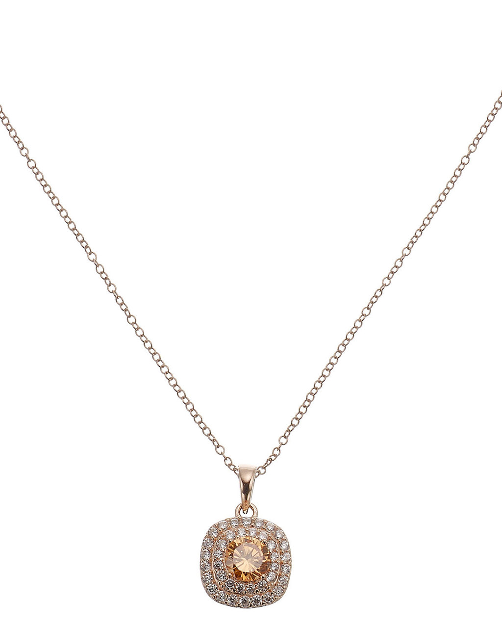 Rose Halo Pendant - predominant colour: gold; occasions: evening, occasion; style: pendant; length: mid; size: small/fine; material: chain/metal; finish: metallic; embellishment: jewels/stone; season: s/s 2016; wardrobe: event