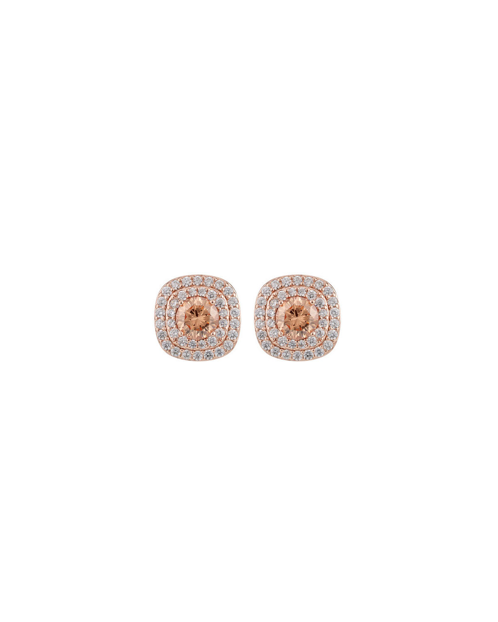 Rose Halo Studs - secondary colour: silver; predominant colour: gold; occasions: evening, occasion; style: stud; length: short; size: large/oversized; material: chain/metal; fastening: pierced; finish: metallic; embellishment: crystals/glass; season: s/s 2016; wardrobe: event