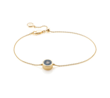 Gold Evil Eye Chain Bracelet Diamond - predominant colour: gold; occasions: evening; style: chain; size: small/fine; material: chain/metal; finish: metallic; embellishment: jewels/stone; season: s/s 2016; wardrobe: event