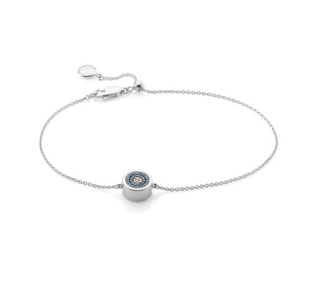 Evil Eye Chain Bracelet Diamond - predominant colour: silver; occasions: evening; style: chain; size: small/fine; material: chain/metal; finish: metallic; season: s/s 2016; wardrobe: event