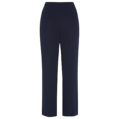 Selby Cropped Kick Flare, Navy - pattern: plain; waist: mid/regular rise; predominant colour: navy; occasions: casual, creative work; length: ankle length; fibres: polyester/polyamide - stretch; fit: flares; pattern type: fabric; texture group: woven light midweight; style: standard; season: s/s 2016; wardrobe: basic