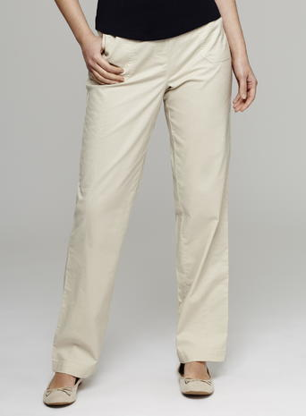 Womens Great Value Sheeting Trousers, Stone, Stone - length: standard; pattern: plain; waist: mid/regular rise; predominant colour: stone; occasions: casual, creative work; fibres: cotton - 100%; fit: straight leg; pattern type: fabric; texture group: woven light midweight; style: standard; season: s/s 2016; wardrobe: basic