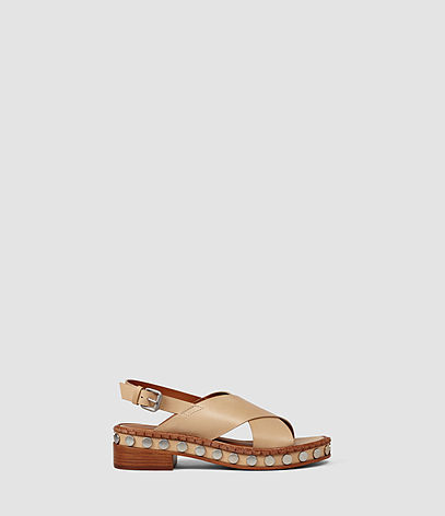 Ruse Sandal - predominant colour: camel; occasions: casual, holiday; material: leather; heel height: mid; heel: block; toe: open toe/peeptoe; style: strappy; finish: plain; pattern: plain; shoe detail: platform; season: s/s 2016