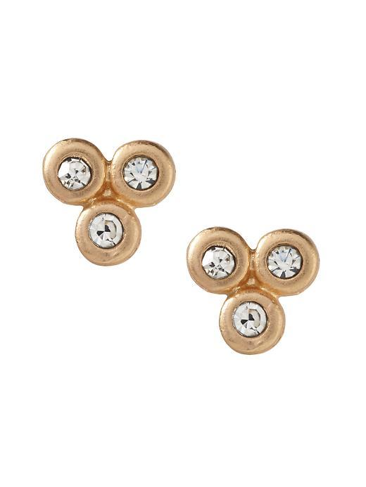 Cluster Sparkle Earring Gold - predominant colour: gold; occasions: evening; style: stud; length: short; size: standard; material: chain/metal; fastening: pierced; finish: metallic; embellishment: crystals/glass; secondary colour: clear; season: s/s 2016; wardrobe: event